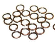Round jump rings - brass plated